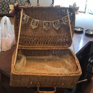Other - Woven basket for cards at wedding reception